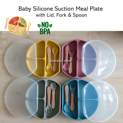 LLS Baby Silicone Suction Meal Plate